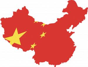 Flag Map Of China