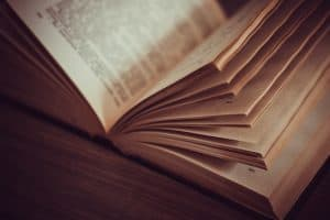 open book with pages fanned