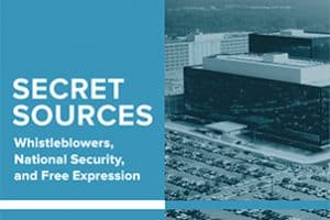 Secret Sources Report Cover