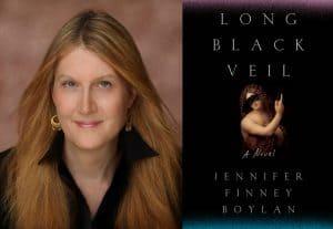 Jennifer Boylan headshot and cover of Long Black Veil