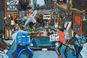 Police Protest Painting: Pulphus