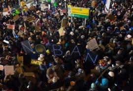 No Ban Protestors