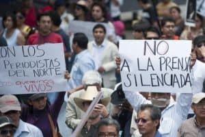 Protests for Mexican journalist
