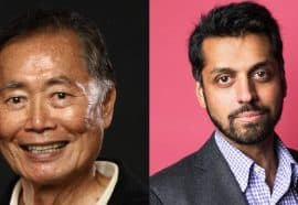 Headshots of George Takei and Wajahat Ali