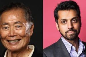 Headshots of George Takei and Wajahat Ali