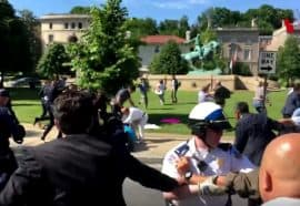 Clash between protestors and police in Turkey