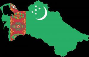 Flag Map Of Turkmenistan
