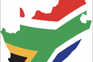 Flag Map Of South Africa