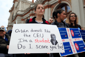 Hungary Student Protestor