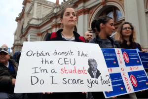 Hungary Student Protestor