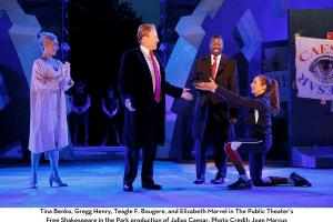 Scene from Julius Caesar at the Public Theater
