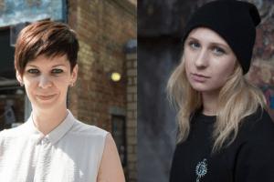 Headshots of Natalia Kaliada and Maria Alyokhina
