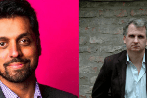 Headshots of Wajahat Ali and Timothy Snyder