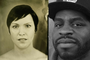 Headshots of Eloisa Amescuza and Hanif Abdurraqib