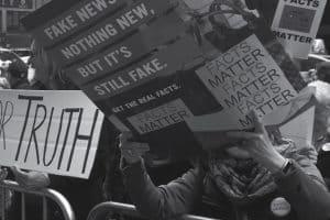 Fake News Protestors