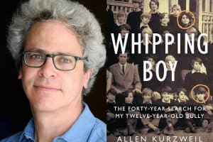 Allen Kurzweil headshot and cover of Whipping Boy