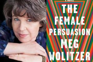 Meg Politzer headshot and cover of The Female Persuasion