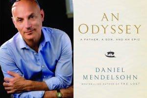 Daniel Mendelsohn headshot and cover of An Odyssey