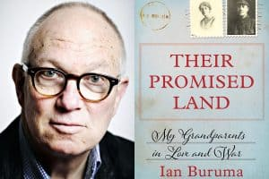 Headshot of Ian Buruma and cover of Their Promised Land