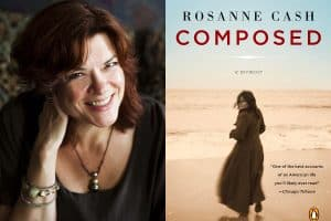 Rosanne Cash headshot and cover of Compose