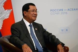 Prime Minister Hun Sen of Cambodia