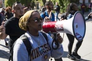 Minnesota Campus Free Speech Protestor