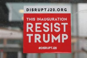 Disrupt J20 protest sticker