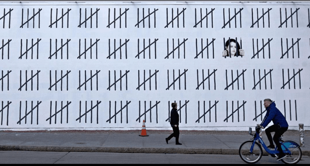 pen.org: Banksy's New Mural Protests the Imprisonment of Painter Zehra Doğan