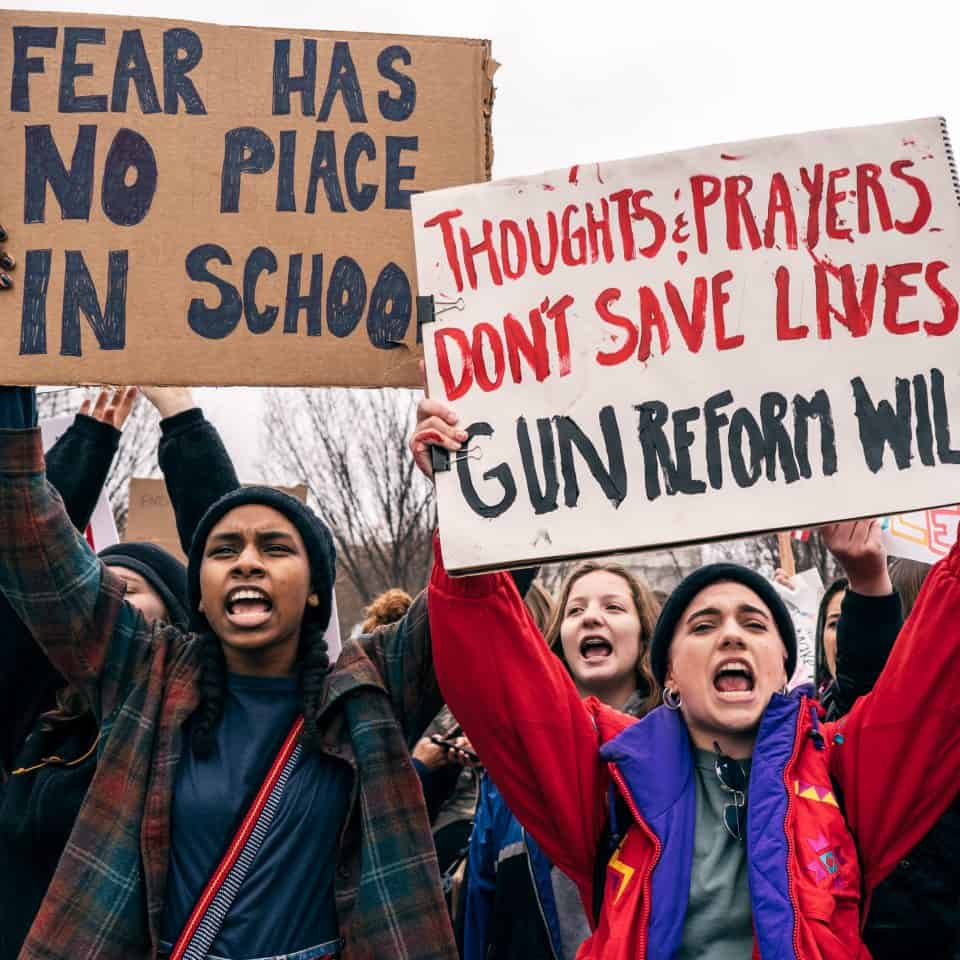 School Students Take To Streets To Protest Against Gun: DARE: National School Walkout: Thousands Protest Against