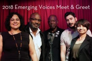 Group photo of 2018 emerging voices meet and greet