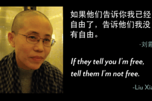 "Liu Xia: ""If they tell you I'm free, the them I'm not free."""