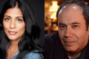 Mira Jacob and Ken Krimstein headshots
