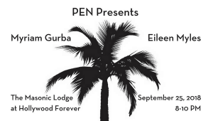 PEN Presents with Myriam Gurba and Eileen Myles