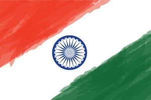 stylized flag of india