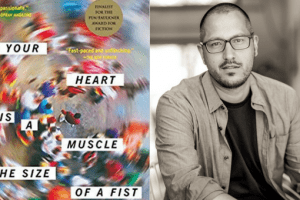 Your Heart is a muscle the size of a fist book cover and author headshot