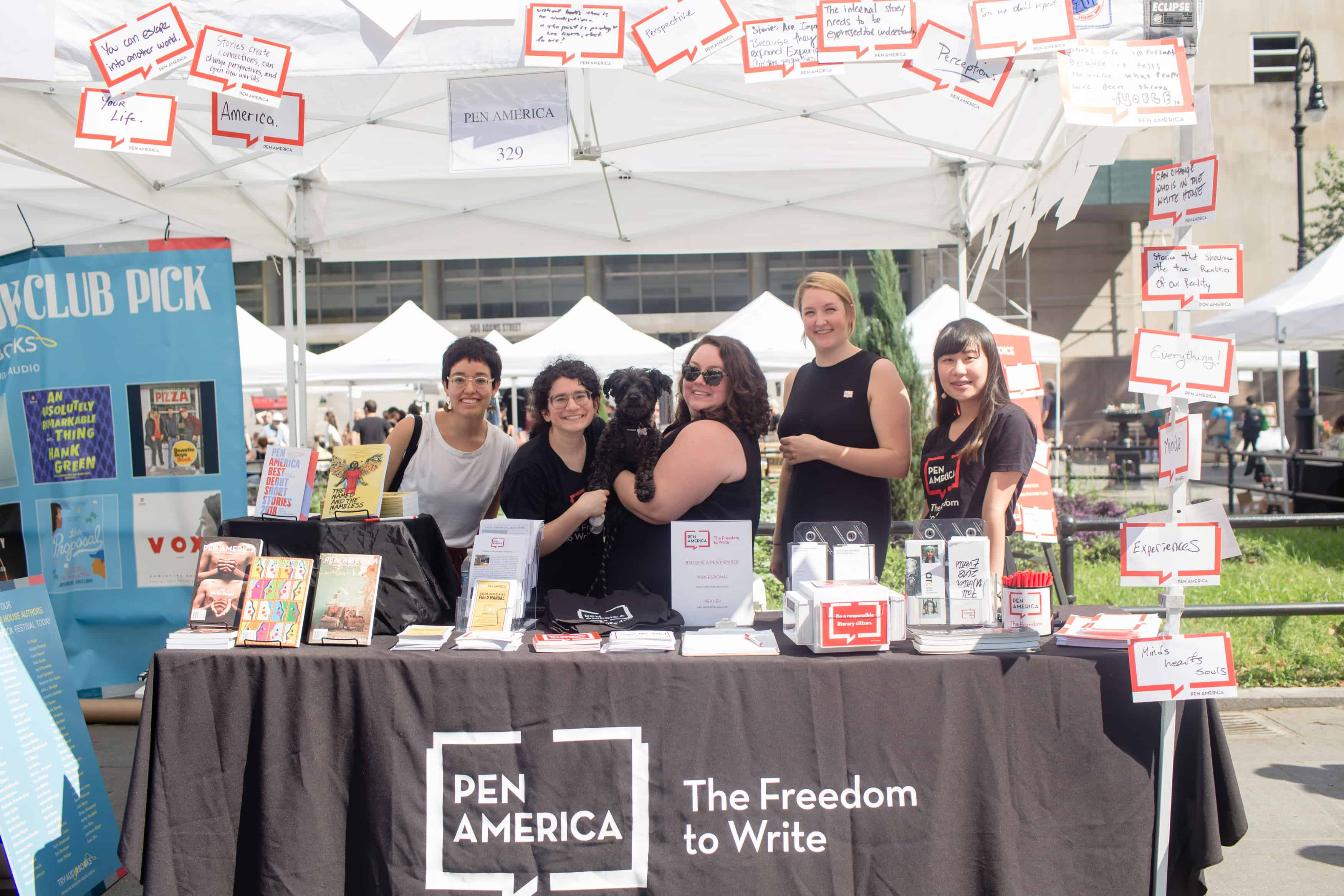 PEN America staff at the 2018 Brooklyn Book Festival