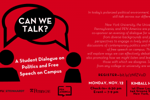 Can we talk? event graphic