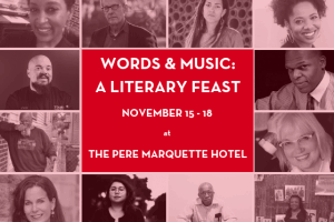Words and Music: A Literary Feast event graphic