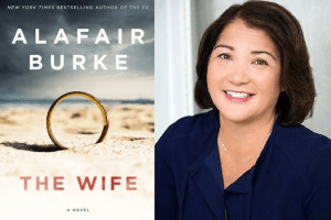Alafair Burke headshot and cover of the The Wife