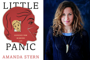Amanda Stern headshot and cover of Little Panic