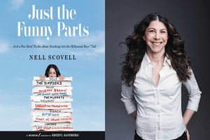 Nell Scovell headshot and cover of Just the Funny Parts