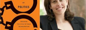 Rachel Elise Barkow headshot and cover of Prisoners of Politics