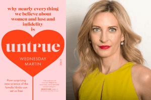 Cover of Untrue and Wednesday Martin headshot