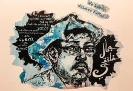 Jamal Khashoggi illustration