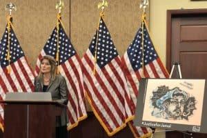 Jennifer Egan Speaking at the 100th Day Anniversary of Jamal Khashoggis Death