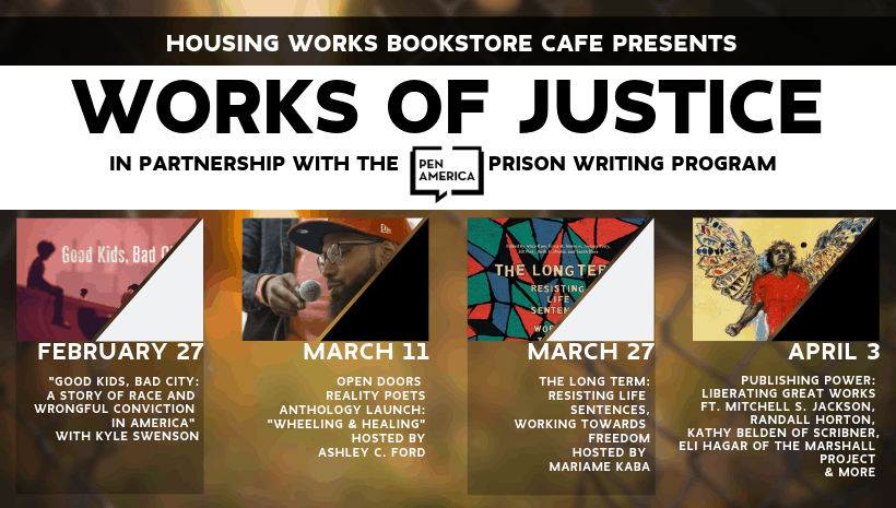 Works of Justice event series banner