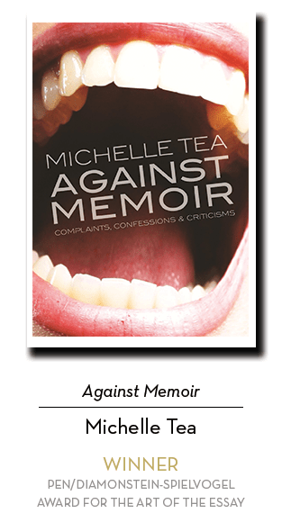2019 Diamonstein Winner: Against Memoir