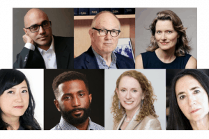 Headshots of the panelists at PEN America's Annual General Meeting