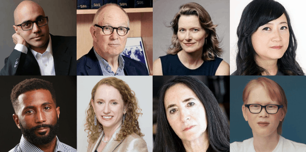 headshots of panelists at the 2019 PEN America Annual General Meeting