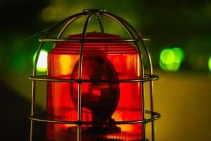 red alarm siren